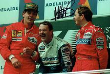 Martin BRUNDLE 12x8 SIGNED Photo Australian GP F1 Genuine Autograph AFTAL COA