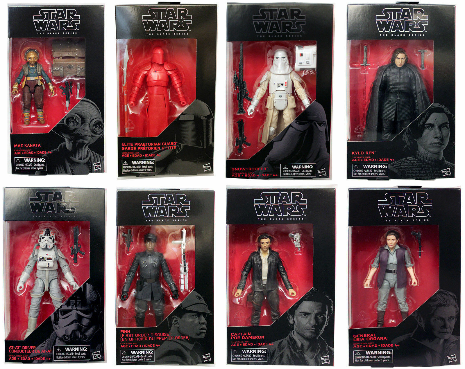 Star Wars Rogue One Noir Série 6   Vague 13  prétorienne, MAZ, Kylo, Finn, Leia