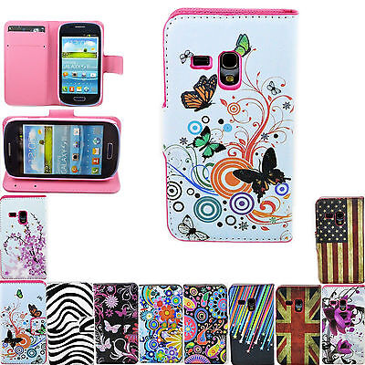 Women Men Leather Protective Pouch Cover Case For Samsung Galaxy S3 Mini i8190