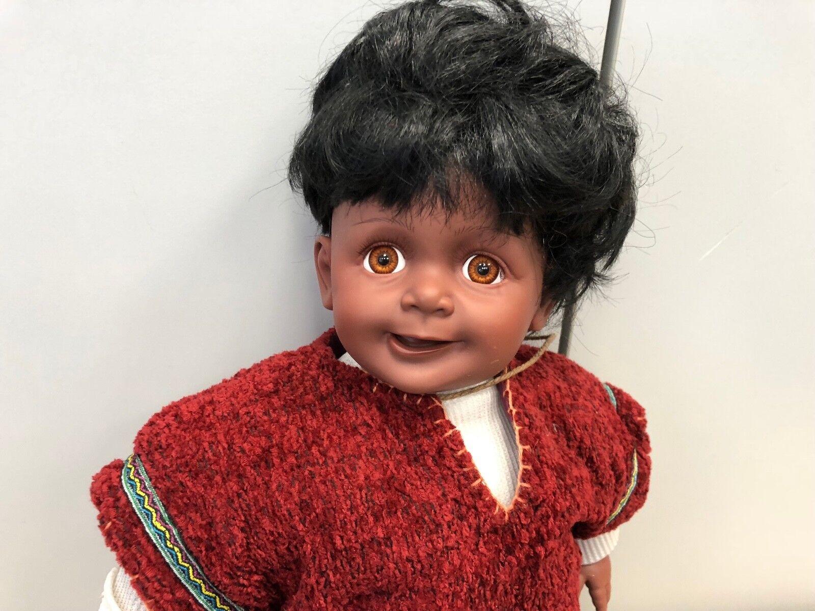 Künstlerpuppe Vinyl Puppe Puppe Puppe 58 cm. Top Zustand c6d07e