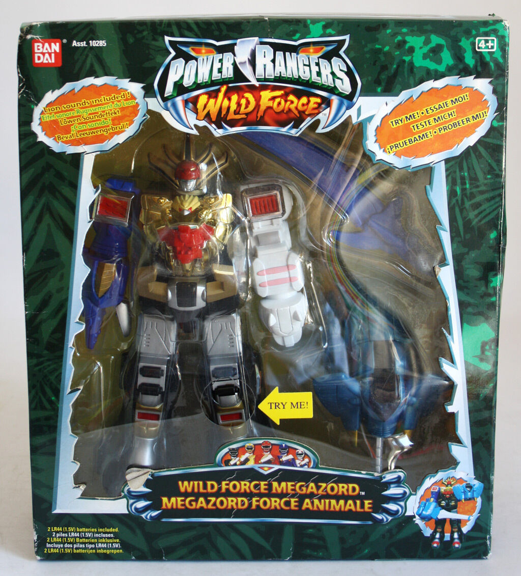 VERY RARE 2002 POWER RANGERS WILD FORCE MEGAZORD W/ LION SOUNDS BANDAI NEW MISB