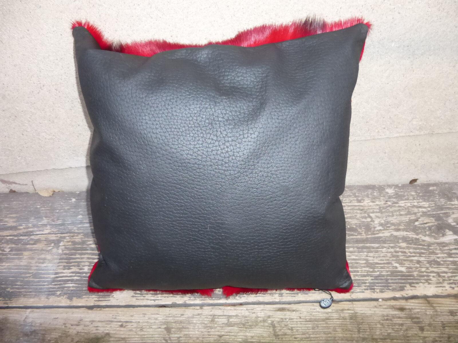Nouvel oreiller en springbockfell, véritable springbockfell, en Rouge Colorés/Décoration/roue e18775
