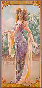 1894 Paon série Lilas Allure Vintage Français Art Nouveau voyage art POSTER print