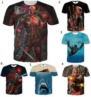 New 3D Deadpool T-Shirt Marvel Comics Men Women Movie Superhero Size S M L XL 5X