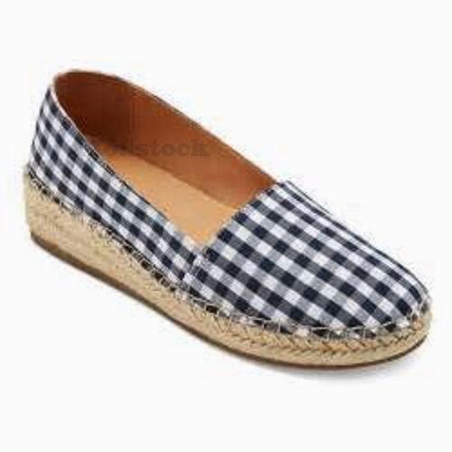 Womens Merona Sonya Plaid Canvas Wedge Espadrilles Shoes NWOB C157