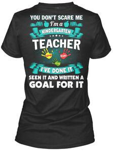 Kindergarten-Teacher-You-Don-039-t-Scare-Me-I-039-m-A-I-039-ve-Gildan-Women-039-s-Tee-T-Shirt