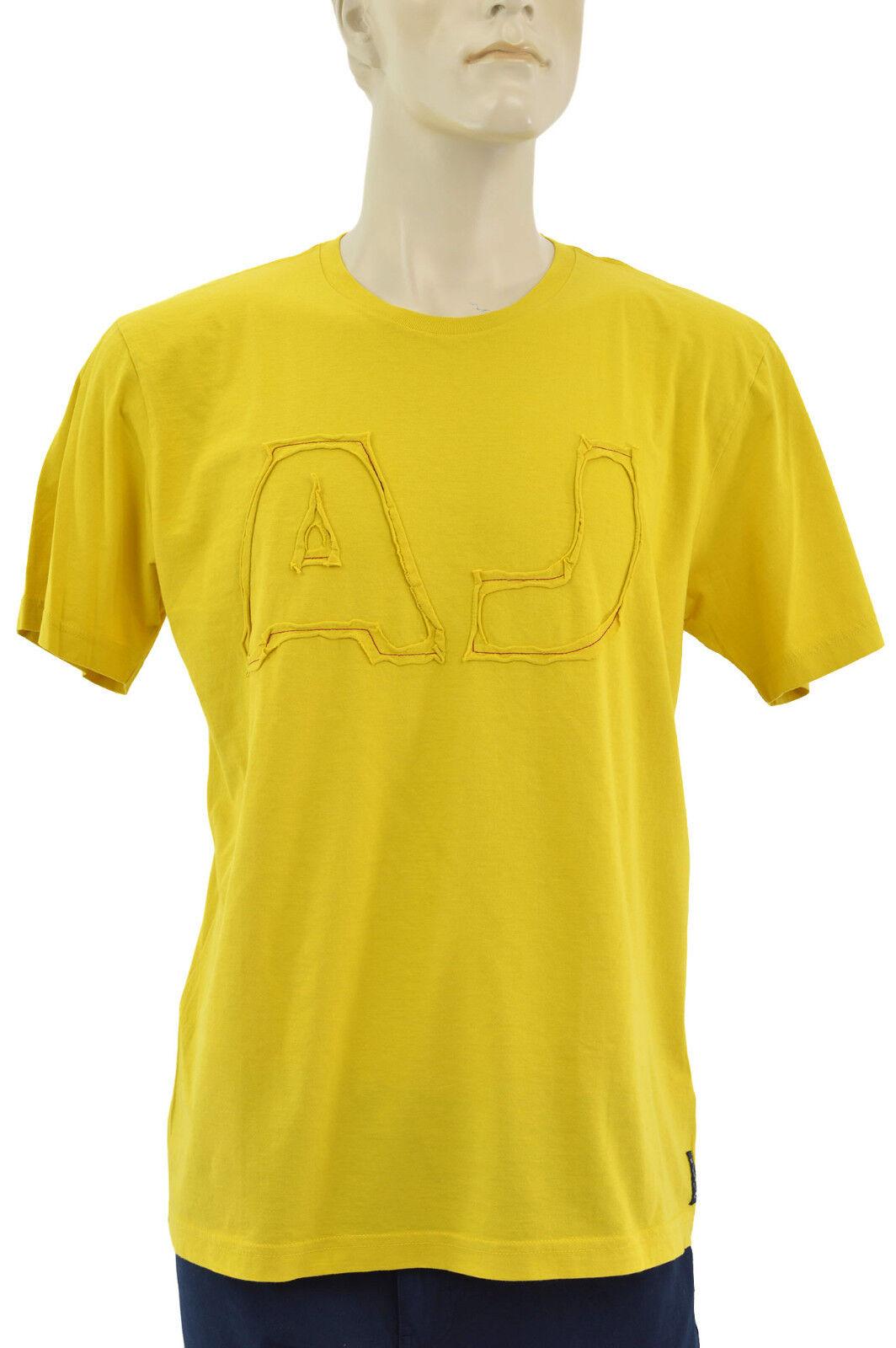 ARMANI JEANS Yellow AJ LOGO Men's T-Shirt Size L