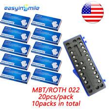 10pack Orthodontic Dental Ceramic Brackets Clear Brace Mbtroth 022 3345 Hooks