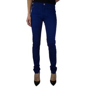 Armani Jeans B5J28GE Pantalone da Donna in Cotone Slim Nero/Beige/Rosso  -45 %