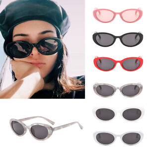 f606b0786664 Women Female Oval Cat Eye Sunglasses Vintage Small Shape Eyeglass ...