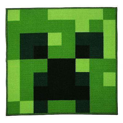 Minecraft Creeper Piazza A Forma Di Tappeto Per Bambini 80cm X 80cm Ebay