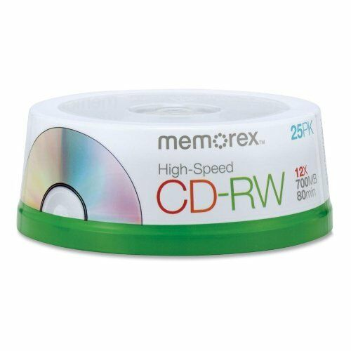 100 Memorex 12X Rewritable CD-RW CD Logo 700MB 80min [FREE USPS Priority Mail]