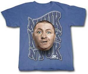 Three-Stooges-Nyuk-Nyuk-BLUE-Adult-T-Shirt