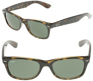 8e3cae8e8d8 New RAY-BAN New Wayfarer RB 2132 902 Polished Tortoise w G-15 Green ...