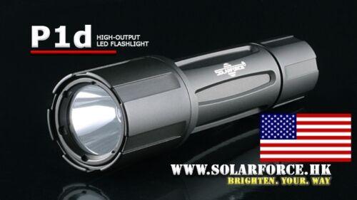 NEW Solarforce P1d Grey Mil-Spec Tactical Flashlight Host