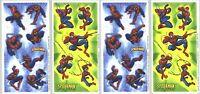 Marvel Comics Spiderman Scrapbook Stickers 4 Sheets
