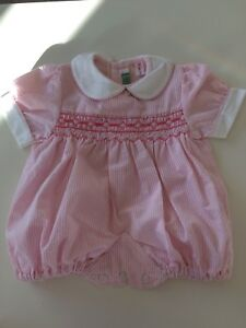 Bespoke 'louisa Jane' Smocked Baby Romper Babygrows & Playsuits Baby