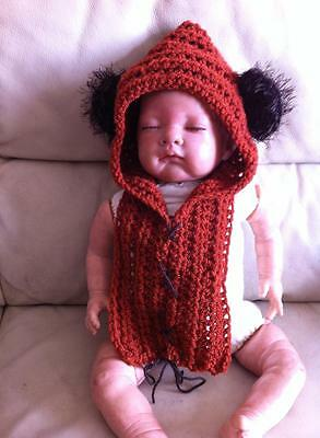 Ganchillo Bebé Ewok Star Wars Yoda Sombrero apoyos de la foto Disfraz Elaborado Vestido