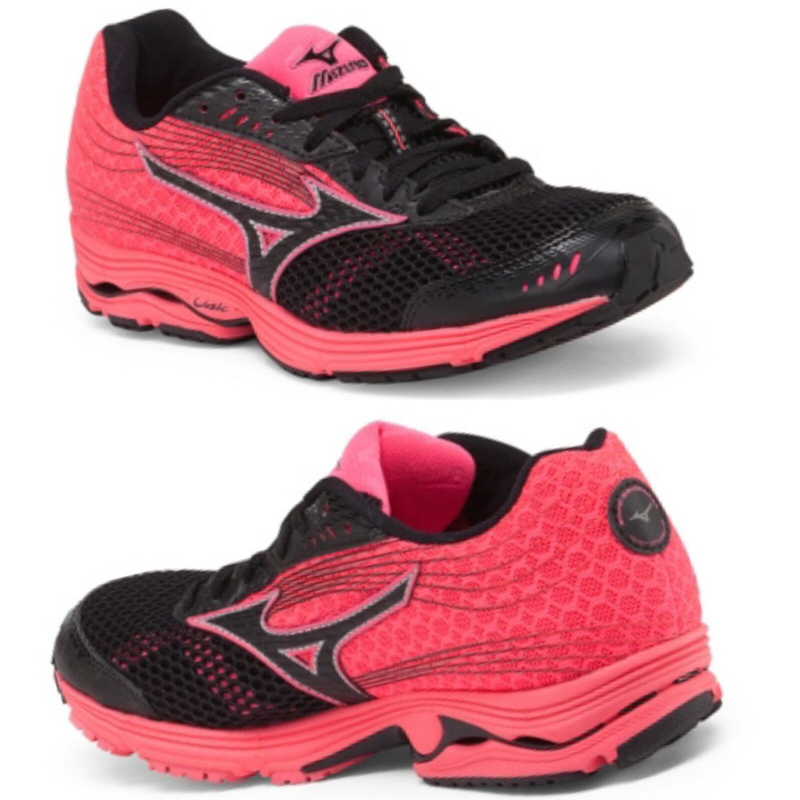 Running Shoes MIZUNO Sayonara BlackNeon Pink BNIB Training Wave Sneakers 3 v8Nmn0w
