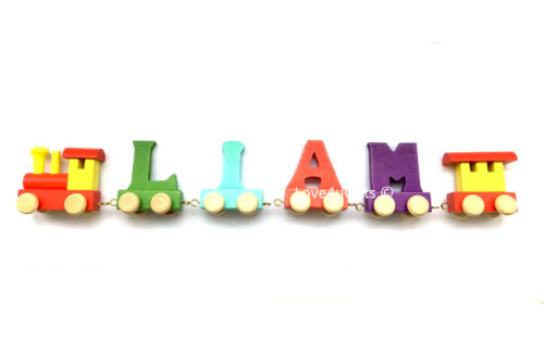 New Wooden Train Letters Personalised Names for Christening Birthday Gifts