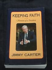 Jimmy Carter US President Nobel Prize Keeping Faith Signed Autograph Book COA