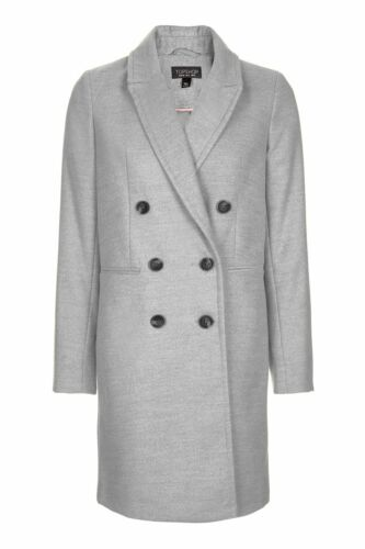 Double Size Grey Bnwt 14 Breasted Coat Topshop OnTnEqHAP