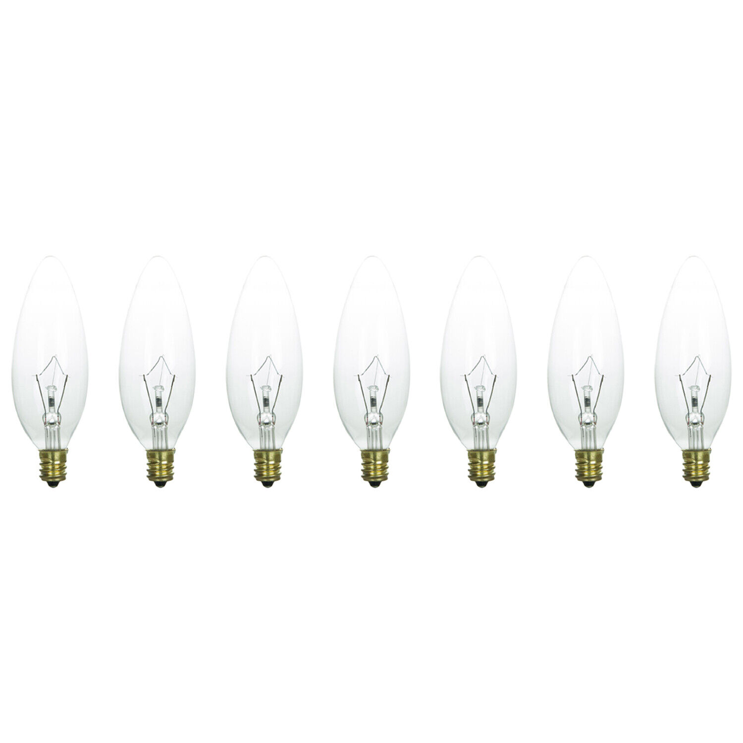 6 Pack 40 Watt Clear Candelabra Base