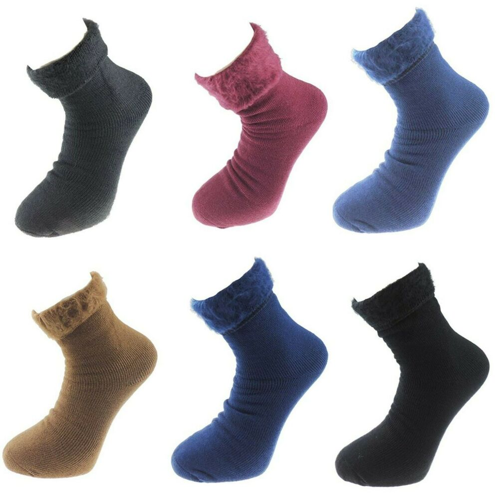 à Condition De Nouveau Hommes 1 Paire De Thermique Chaud Confortable Pieds Brossé Chaleur Taille Uk6-11 Lit Chaussettes Volume Large