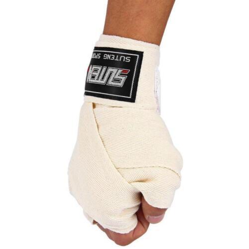 1 Pair 2.5M Cotton Taekwondo Boxing Winding Bandage Sanda Finger Guard Hand Wrap
