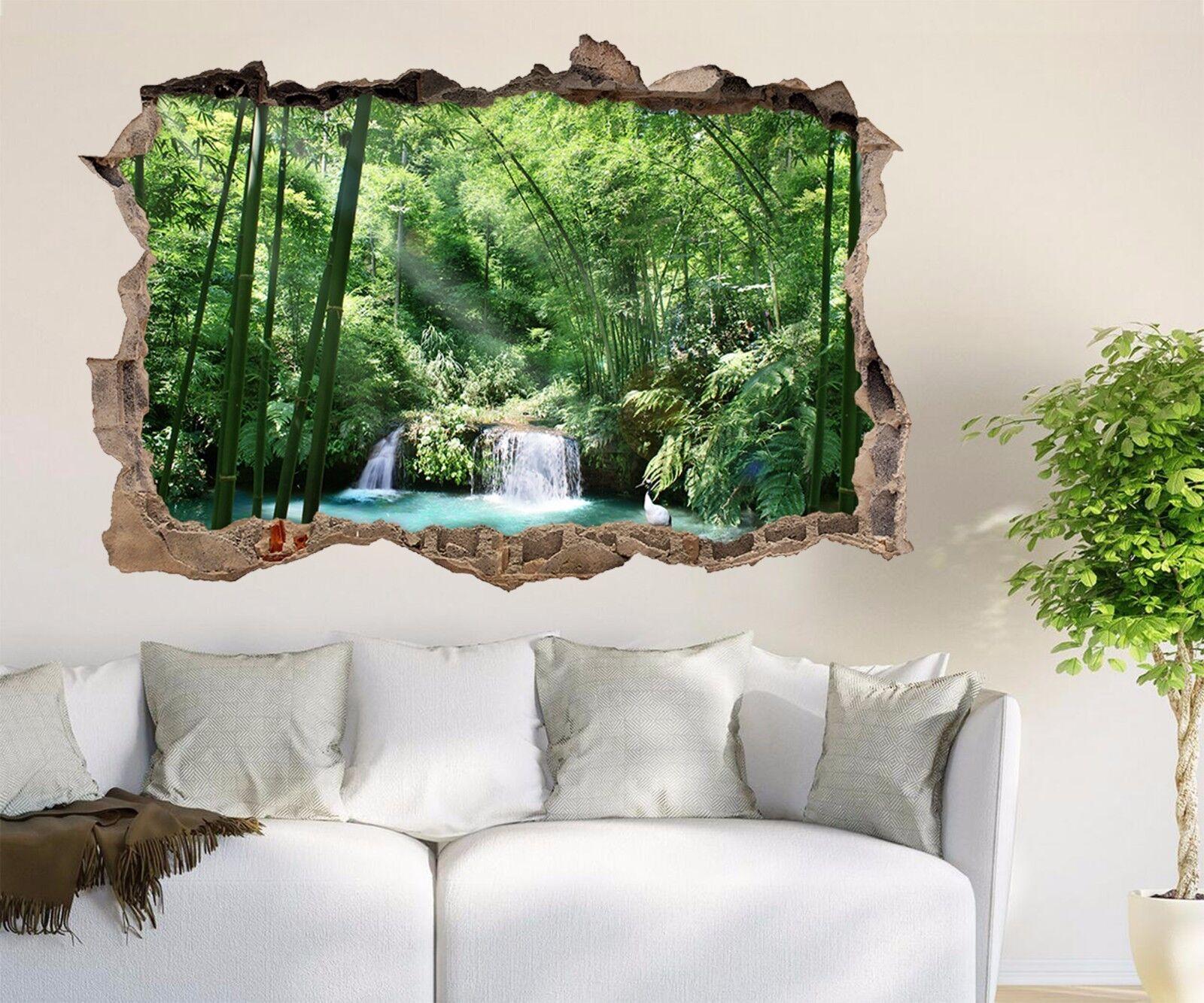 3D Lago Di Bambù 273 Parete Murales Adesivi Decal Sfondamento AJ WALLPAPER IT