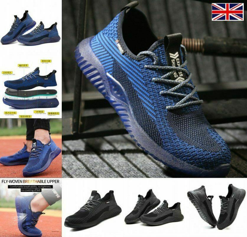 2021 UK Men Safety Shoes Trainers Lightweight Summer Sports breathable Boots L1