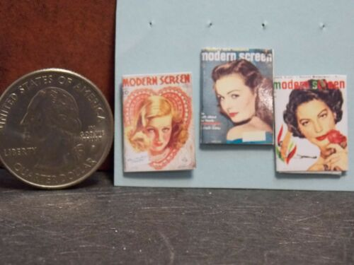 Dollhouse Miniature Vintage Magazines Books ms 1:12 Scale H105 Dollys Gallery