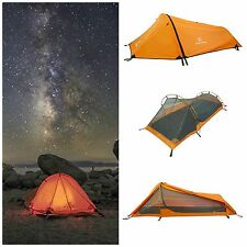 Single Person Tent Outdoor Camping Hiking 3 Season Backpacking Tents Lightweight