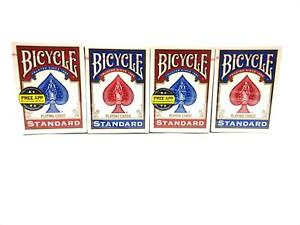 4-DECKS-BICYCLE-PLAYING-CARDS-STANDARD-POKER-GAME-AND-ENTERTAIN-2-RED-2-BLUE
