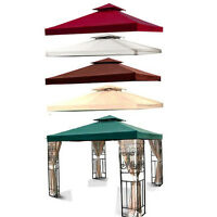 Outdoor Gazebo 2 Tier 10'x10' Canopy Top Fabric Cover Replacement Sun Shade