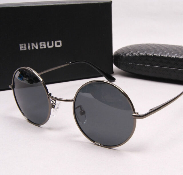 Classic ROUND Polarized Sunglasses Metal frame polarized lens For Men and Women
