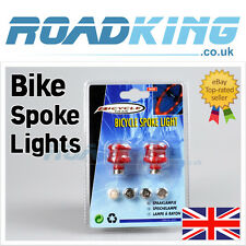 2x pack ROSSO BICICLETTA / CICLO / BICI / BMX WHEEL Spoke Luci Led Nuovo Ottimo per la sicurezza