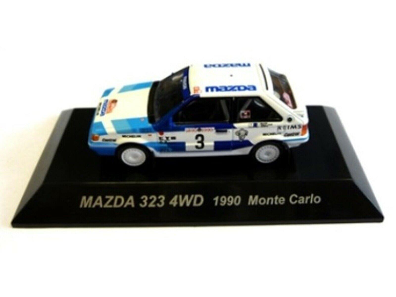 Wow extremadonnate raro Mazda 323 4WD Turbo 1990 M. Carlo WRC 1 64 Cm 's Kyosho-RX7