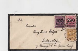 germany 1923 small stamps cover ref 21058