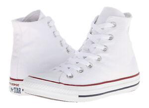 5d65639f0c0c8e Converse All Star Hi Tops Optical White Mens Womens Sneakers Tennis ...