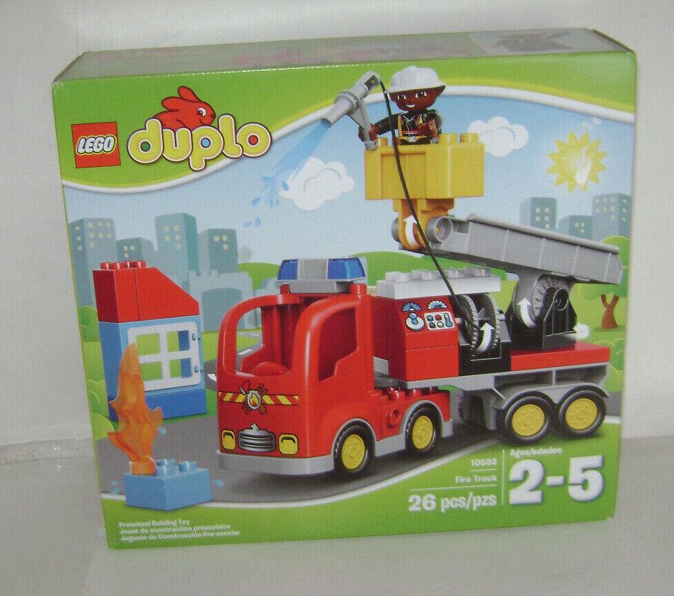 LEGO DUPLO 10592 Camion de Pompiers 1 figurine  Building Toy Set RETIrouge RARE un  économiser 50% -75% de réduction