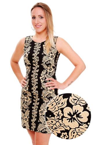 KY Original Hawaii Kleid Goldgirlande Schwarz S-XXL