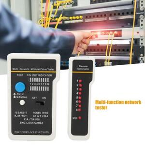 New LAN Network RJ11 RJ45 Cable Tester Phone Line Modular Plug Tester CAT5 CAT6
