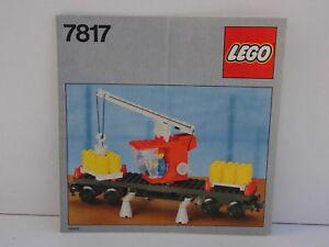 Bauanleitung Eisenbahn LEGO Train 7817 Kranwaggon