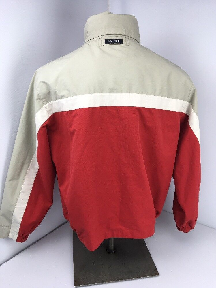 Nautica Jacket Vintage Reversible Bomber Men L La… - image 7
