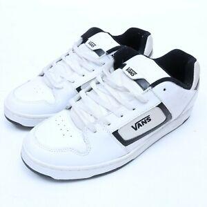 vans docket skate white/black casual fashion shoes size 12