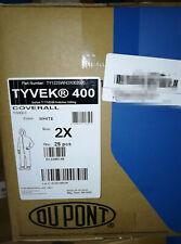 DuPont Tyvek 400 Blanc Combinaison TY122SWH Grand-Hood /& Bottes 25//Case
