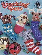 Stocking Pets, Christmas Decor Annie's Attic Crochet Pattern Booklet 879503 RARE