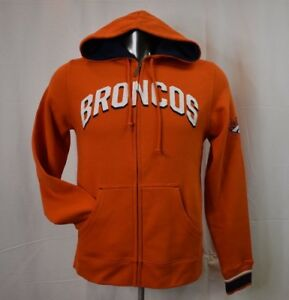 premium selection e0a6c 7c8ef Details about Majestic NFL Mens Denver Broncos Full-Zip Hoodie NWT $70 S
