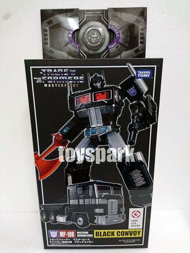 TAKARA TRANSFORMERS MASTERPIECE MP-10B Negro convoy Nemesis Optimus Prime + Moneda